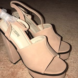 af971aa2b112 MALIBOO CLEAR PERSPEX MULE WITH WEDGE HEEL BEYONCE.  M 5c44ee33c61777b1c4689b1f. Other Shoes you may like. Never worn Public  Desire pumps!